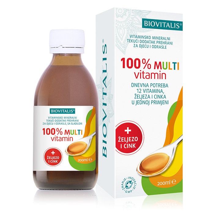 100% Multivitamin syrup 200ml