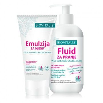 Emulsion and Fluid for very dry skin prone to atopy - 2 in 1 Set