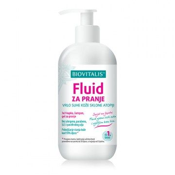 Fluid for washing of very dry skin prone to atopy 250ml